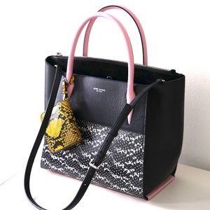 Henri Bendel Tilda Leather Satchel Bag Snake Print